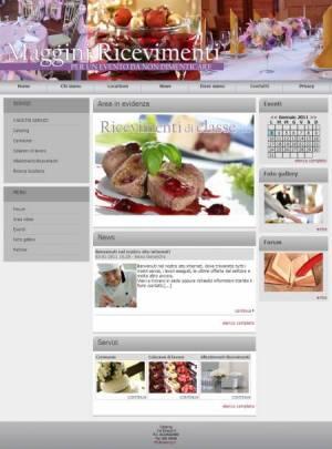 sito per catering template