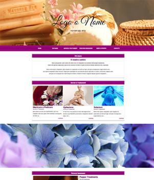 sito web centro estetico template 10094