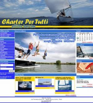 sito per charter nautico noleggio barche template