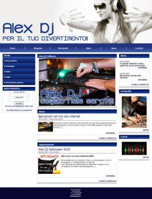 sito deejay template