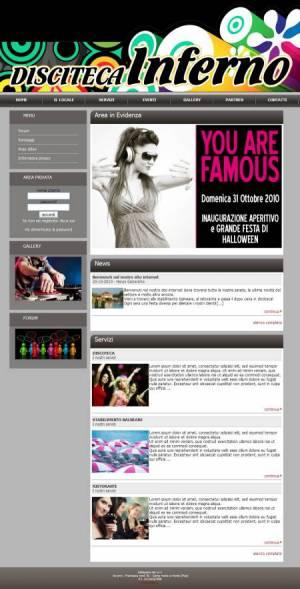 sito web discoteca template