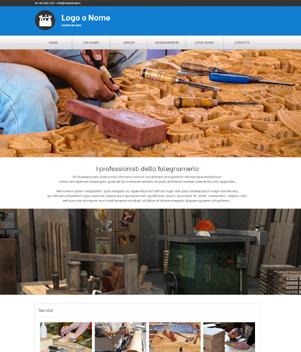 sito web falegnameria template 10095