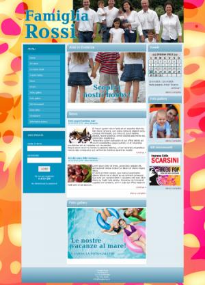sito web famiglia template