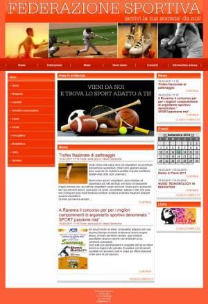 sito web federazione sportiva template