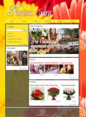 sito web fiorista template