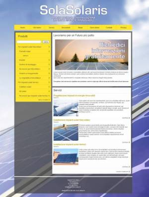 sito web fotovoltaico template