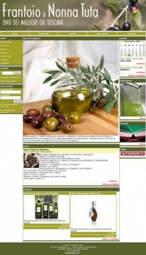 sito web frantoio template