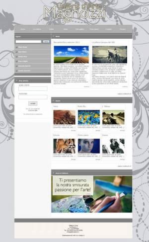 sito web galleria d'arte template