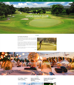 sito web golf club template 10059