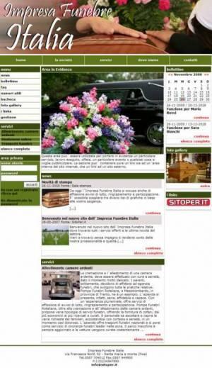 sito web impresa funebre