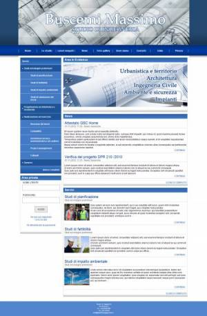 sito web ingegnere template