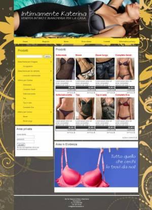 sito web intimo biancheria template