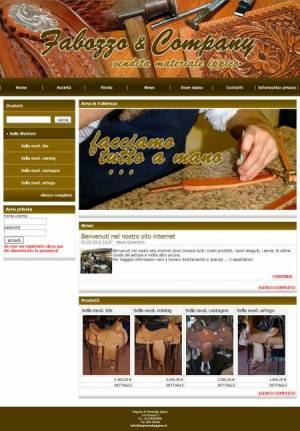 sito web materiale ippico template