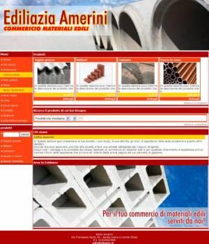 sito web materiali edili template