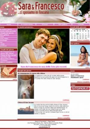 sito web matrimonio template