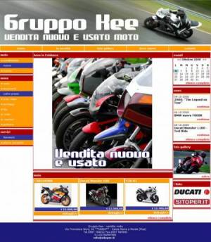 sito web motosalone template