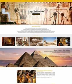 sito per museo template