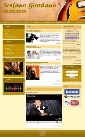 sito web musicista template