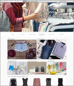 sito web negozio abbigliamento ecommerce template 10028