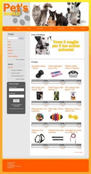 sito web negozio animali template