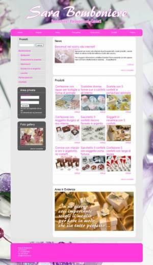 sito web negozio bomboniere template