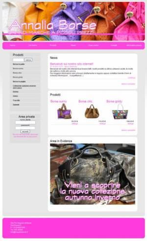 sito web negozio borse template