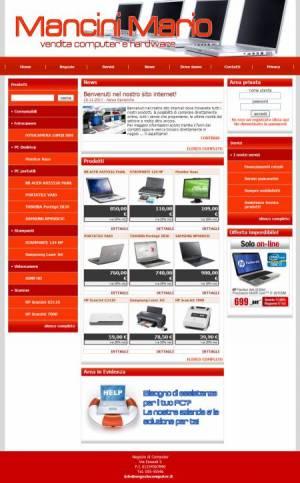 sito web negozio computer template
