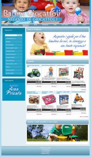 sito web negozio giocattoli template