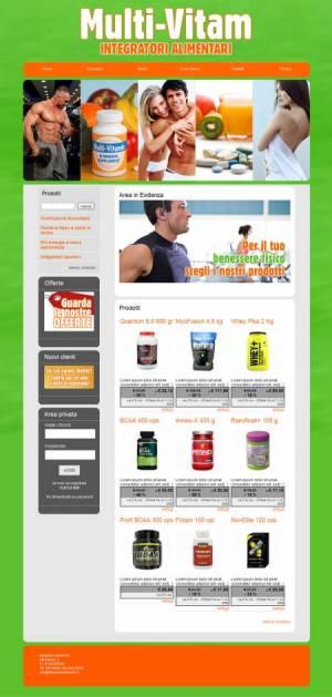 sito web negozio integratori alimentari