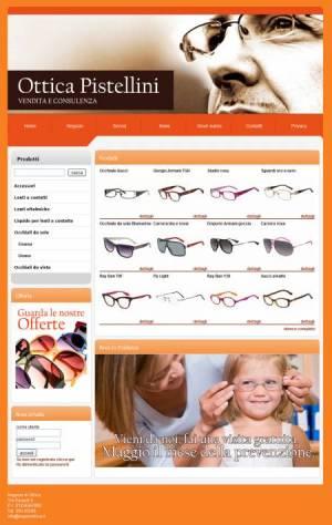 sito web negozio ottica template