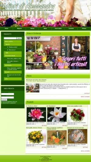 sito web negozio piante template