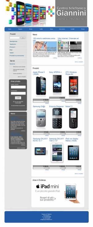 sito web negozio telefonia template