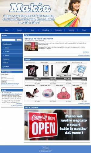 sito web negozio template