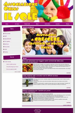sito web onlus template