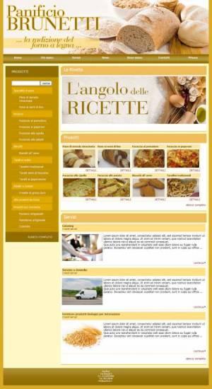 sito web panificio template