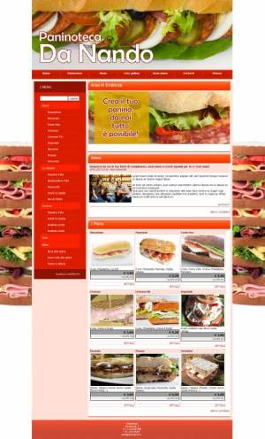 sito web paninoteca template