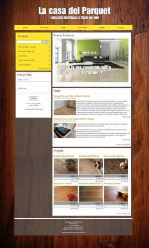 sito web montaggio vendita parquet template