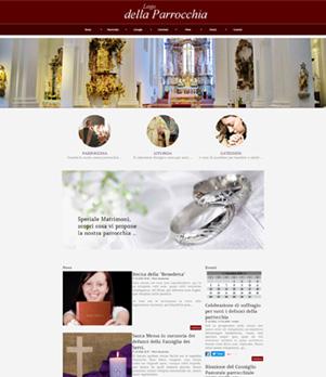 sito web parrocchia template 10045