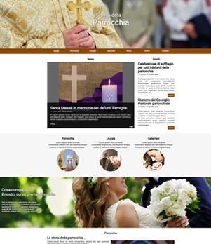 sito web parrocchia template 10047