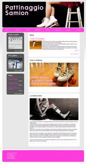 sito web pattinaggio template