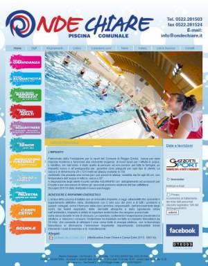 sito web piscina template