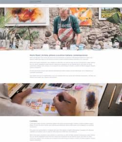 sito web per pittore template 10101