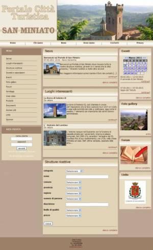 sito web portale turismo template