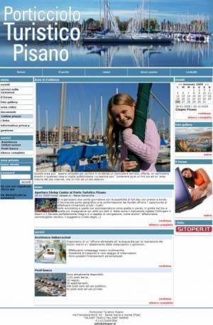 sito web porticciolo turistico template