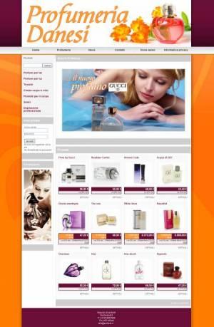 sito web profumeria template