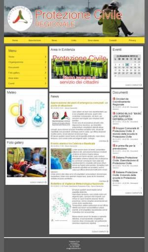 sito web protezione civile template