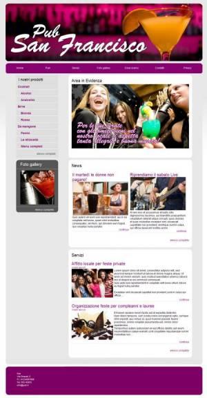 sito web pub template