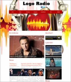 sito web radio template 10016