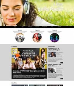 sito web radio template 10018