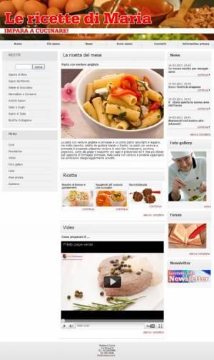sito web ricette cucina template